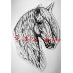 Samolepka kůň andaluzan, pura raza espaňola, samolepky koně