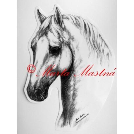 Samolepka kůň lipicán