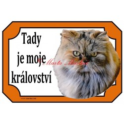 Cedulka kočka perská