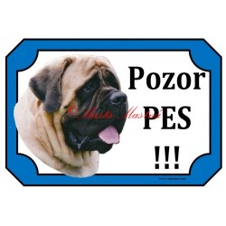 Cedulka mastif anglický