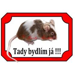 Cedulka potkan, myš