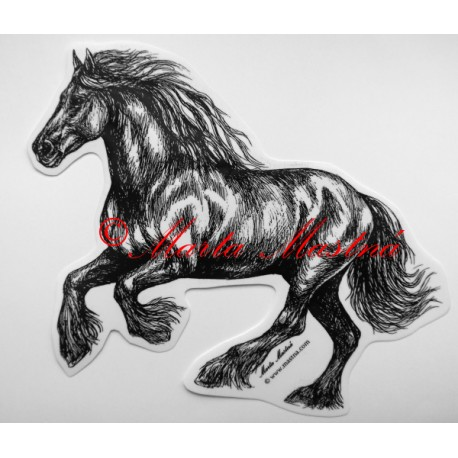 Samolepka kůň frís