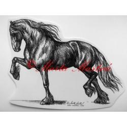 Samolepka frís, kůň, koně