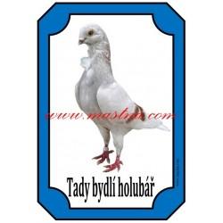 Cedulka holub figurita