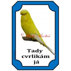 Cedulka andulka - papoušek vlnkovaný