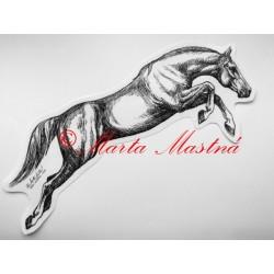 Samolepka kůň skok, teplokrevník, koně
