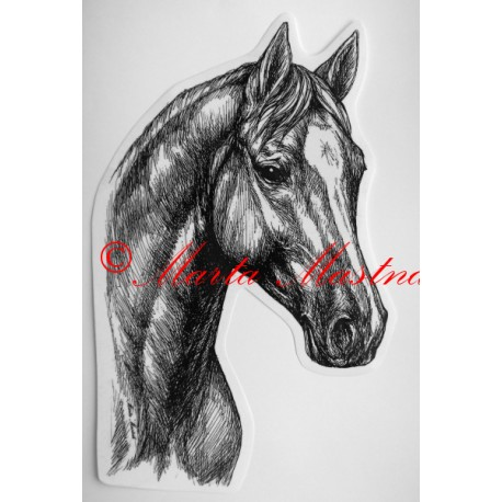 Samolepka kůň teplokrevník, trakén