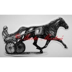 Samolepka kůň klusák, koně