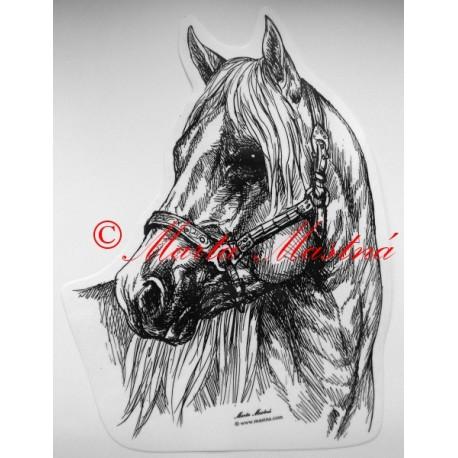 Samolepka kůň quarter horse, western