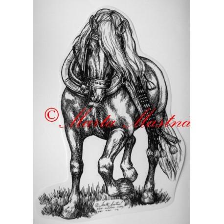 Samolepka kůň chladnokrevník