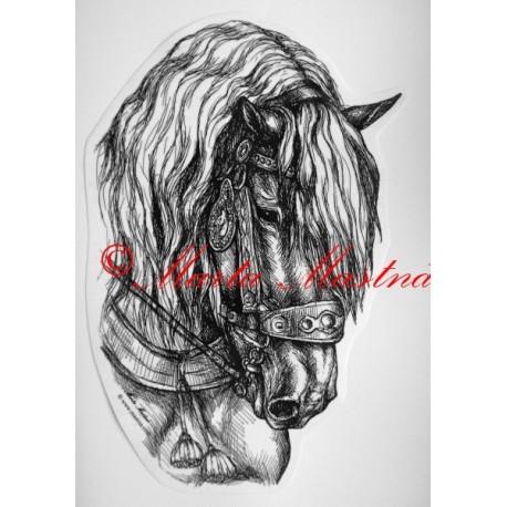 Samolepka kůň chladnokrevník, norik