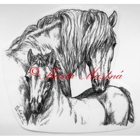 Samolepka kůň hafling, pony
