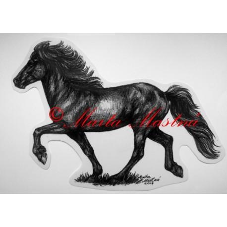 Samolepka kůň islandský, tolt