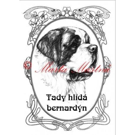 Tabulka svatobernardský pes, bernardýn