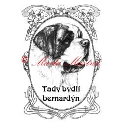 Tabulka bernardýn - svatobernardský pes