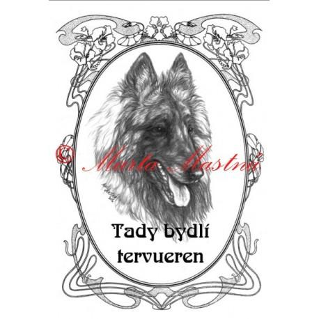 Tabulka belgický ovčák tervueren