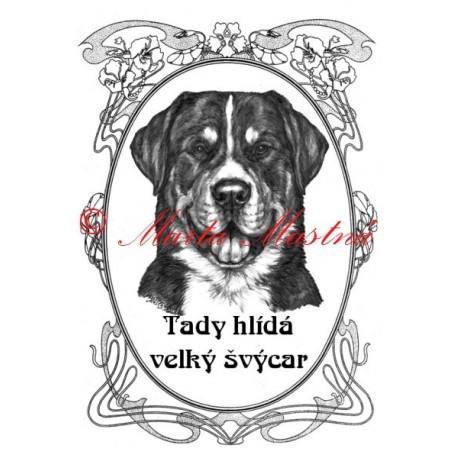 Tabulka velký švýcarský salašnický pes