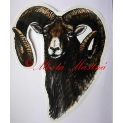Samolepka muflon, myslivost