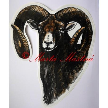 Samolepka muflon