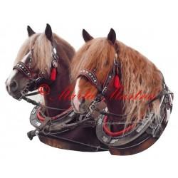 Samolepka chladnokrevní hřebci Arnold a Nick, koně, kůň