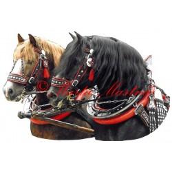 Samolepka českomoravský belgik Makon a Borax, chladnokrevník, koně